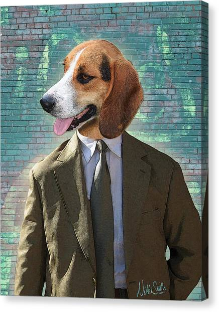 Beagles Canvas Print - Legal Beagle by Nikki Smith