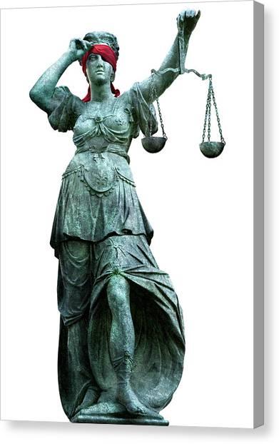 Impartial Canvas Print - Legal Objectivity by Smetek
