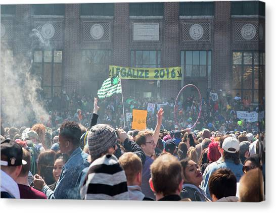 University Of Michigan Canvas Print - Legalisation Of Marijuana by Jim West