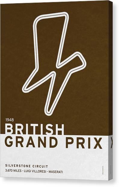 Symbolism Canvas Print - Legendary Races - 1948 British Grand Prix by Chungkong Art