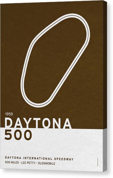Daytona 500 Canvas Print - Legendary Races - 1959 Daytona 500 by Chungkong Art