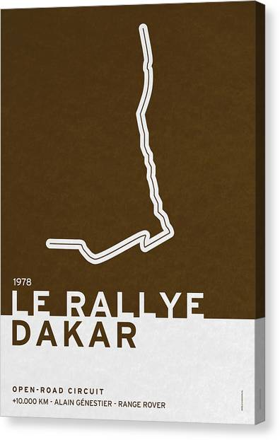 Symbolism Canvas Print - Legendary Races - 1978 Le Rallye Dakar by Chungkong Art