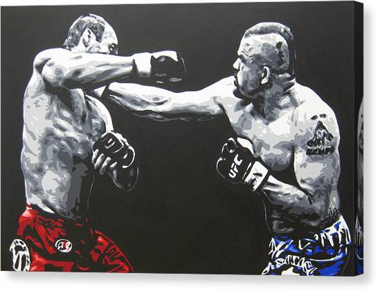 Ufc Canvas Print - Legends by Geo Thomson