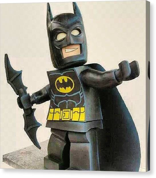 Bakeries Canvas Print - Lego Batman Cake #cakes #cake by Brandon Fisher