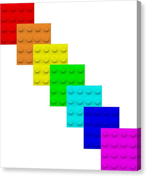 Lego Box White Canvas Print