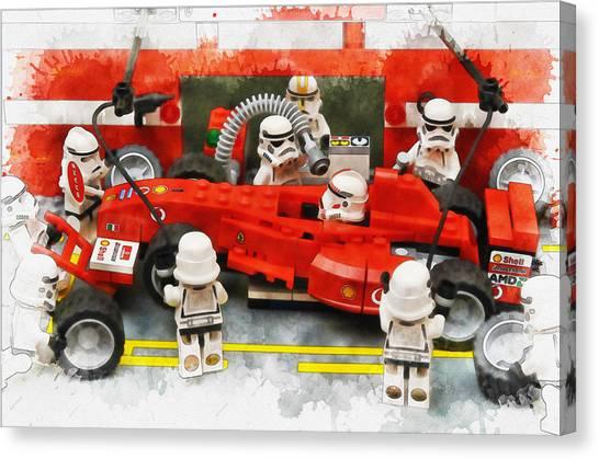 Lego Pit Stop Canvas Print