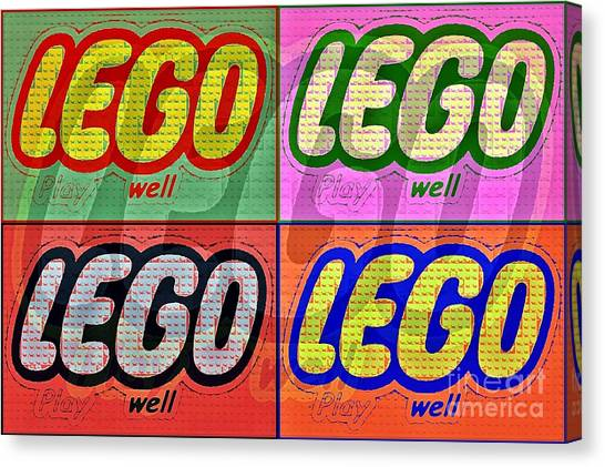 Lego Pop Art Canvas Print by Scott Allison