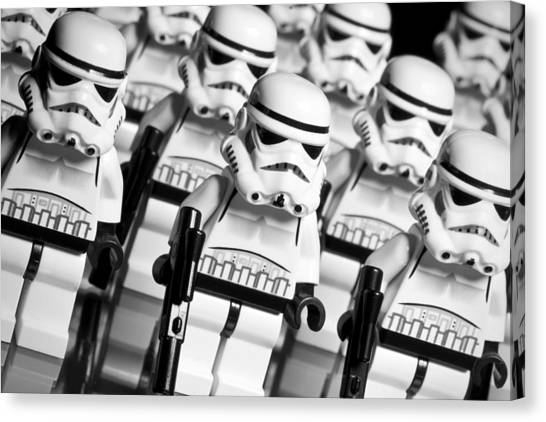 Star Alliance Canvas Print - Lego Storm Trooper Army by Samuel Whitton
