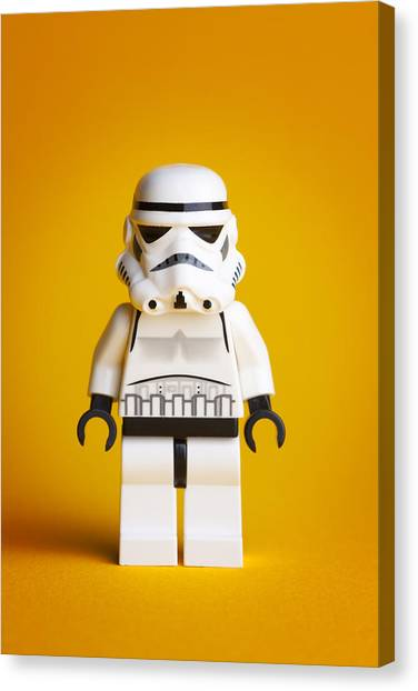 Star Alliance Canvas Print - Lego Storm Trooper by Samuel Whitton