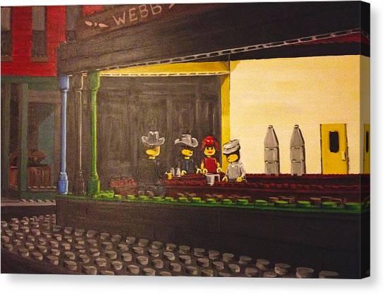 Legohawks Canvas Print by Patrick Webb