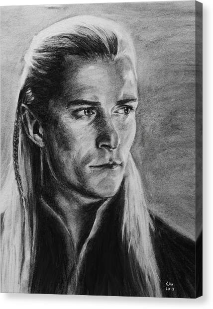 Orlando Bloom Canvas Print - Legolas by Kira Rubtsova