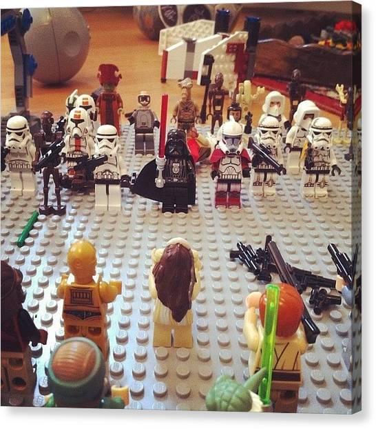 Jedi Canvas Print - #legostarwars #lego #starwars by Rob Hughes
