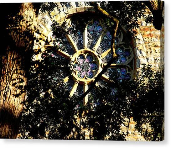 Lehigh University Bethlehem Packer Memorial Chapel Window Canvas Print by Jacqueline M Lewis