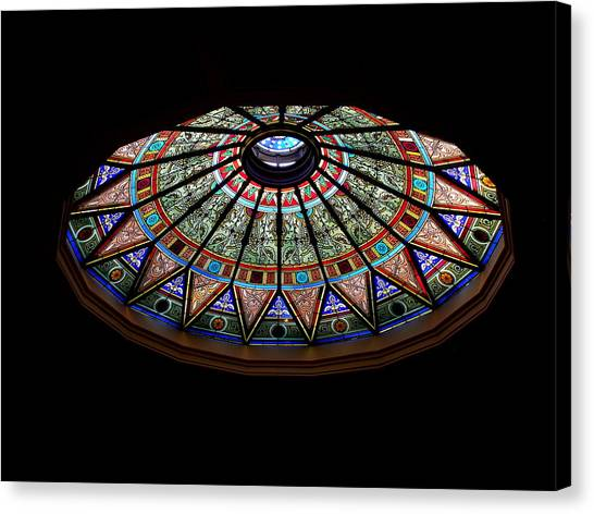 Lehigh University Linderman Library Rotunda Window Canvas Print