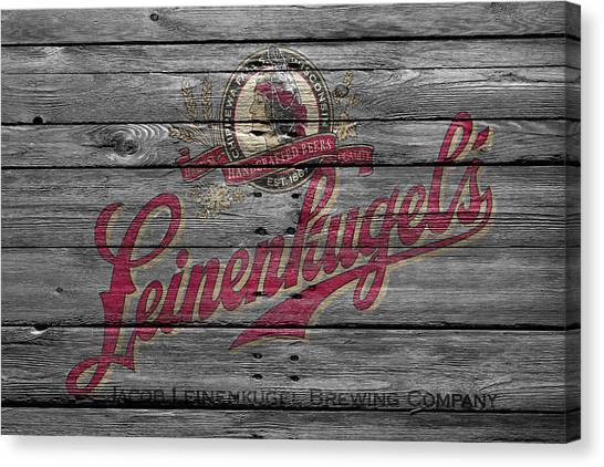 Beer Can Canvas Print - Leinenkugels by Joe Hamilton
