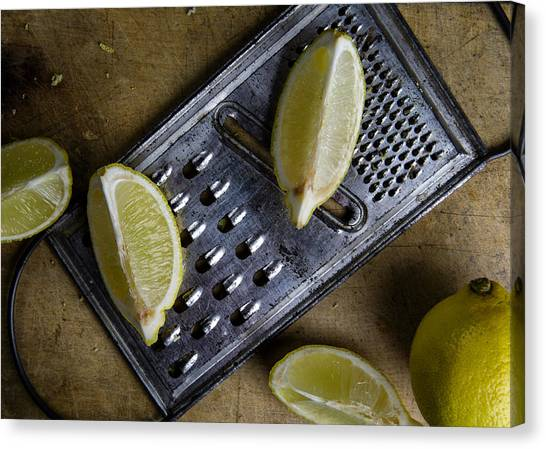 Limes Canvas Print - Lemon And Grater by Nailia Schwarz