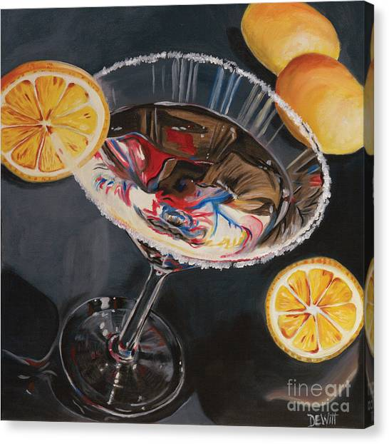 Liquor Canvas Print - Lemon Drop by Debbie DeWitt