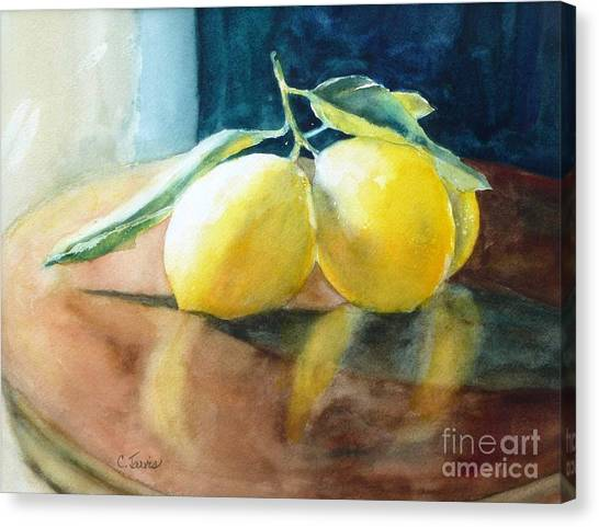 Lemon Reflections Canvas Print