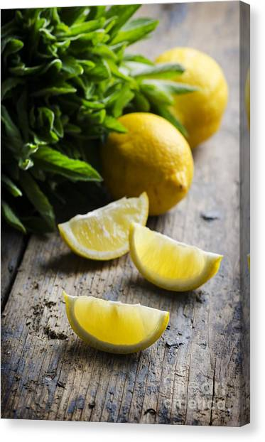 Lemon Slices Canvas Print
