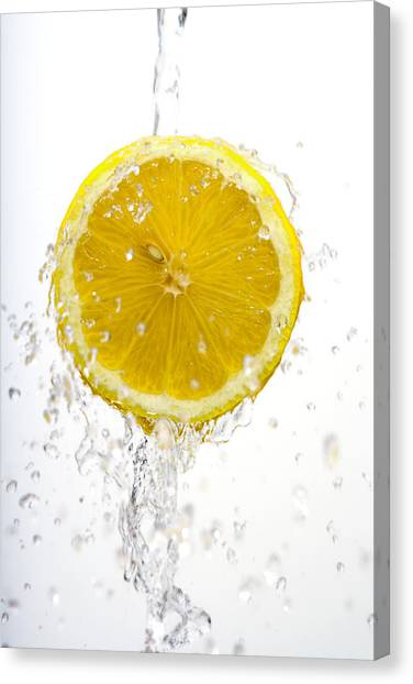 Lemon Splash Canvas Print