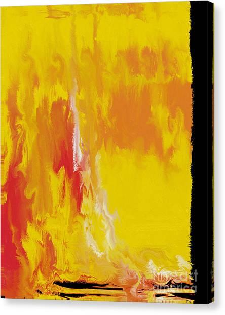 Lemon Yellow Sun Canvas Print