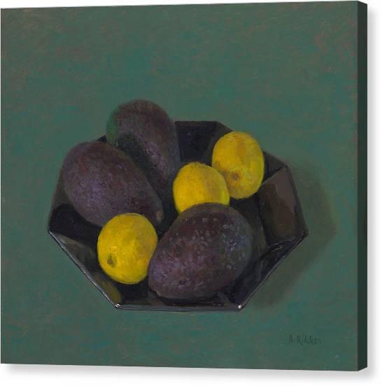 Lemons And Avocados Canvas Print by Ben Rikken