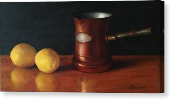 Lemons And Copper Canvas Print