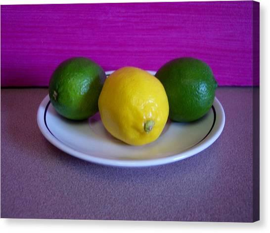 Lemons And Limes Canvas Print