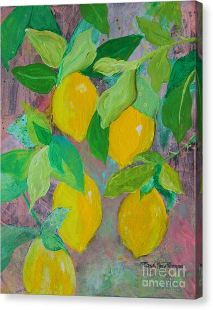 Lemons On Lemon Tree Canvas Print