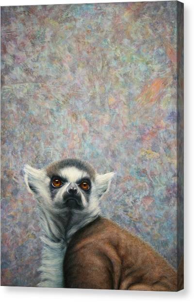 Lemurs Canvas Print - Lemur by James W Johnson