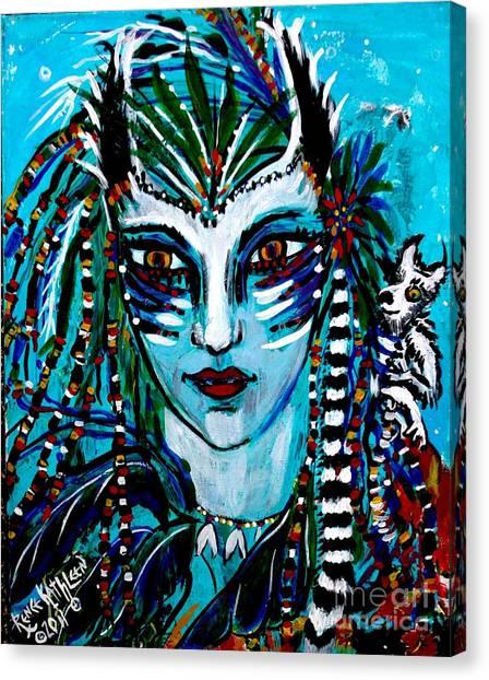 Lemuria Canvas Print by Kath MoonArts