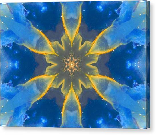 Lemurian Aquatine Calcite Mandala Canvas Print