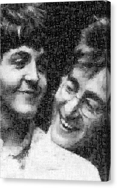 Lennon And Mccartney Mosaic Image 1 Canvas Print