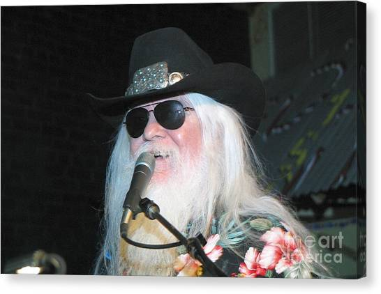 Leon Russell Canvas Print - Leon Russell  by Concert Photos