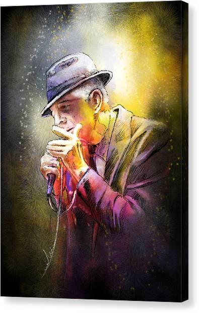 Leonard Cohen 02 Canvas Print