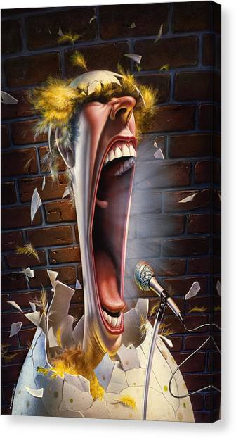 Crazy Canvas Print - Leonard J. Waxdeck's 25th Annual Bird Calling Contest by Mark Fredrickson