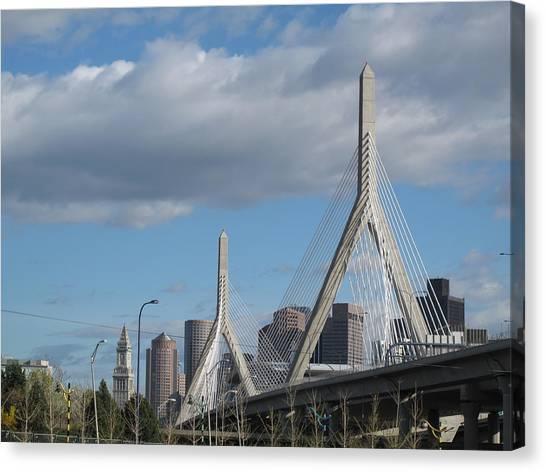 Leonard P Zakim Bridge Canvas Print