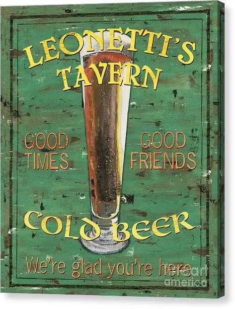 Liquor Canvas Print - Leonetti's Tavern by Debbie DeWitt