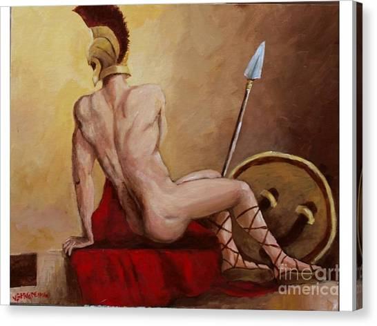 Leonidas Rest Canvas Print