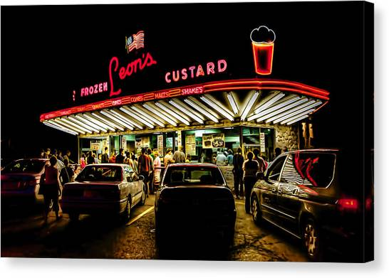Leon's Frozen Custard Canvas Print