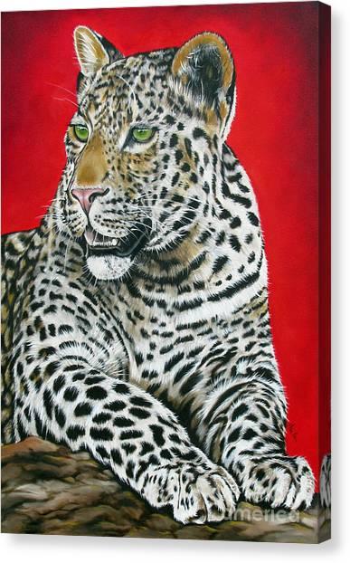 Leopard Canvas Print by Ilse Kleyn