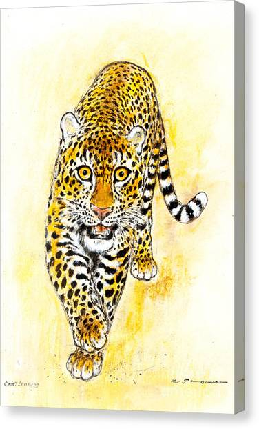 Leopard Canvas Print by Kurt Tessmann