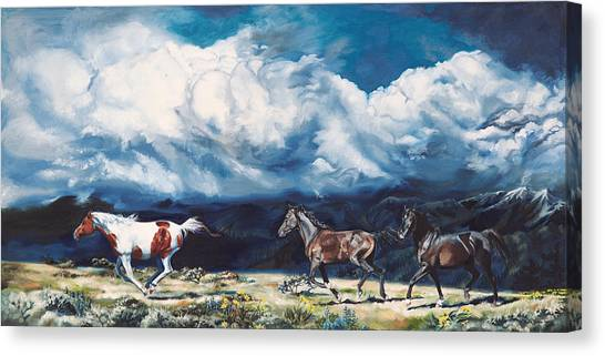 Thunderclouds Canvas Print - Leo's Take by Shaila Yovan Tenorio