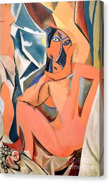 Les Demoiselles D'avignon Picasso Detail Canvas Print