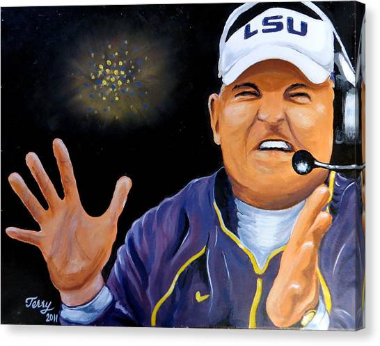 Les Miles Clapping Canvas Print by Terry J Marks Sr