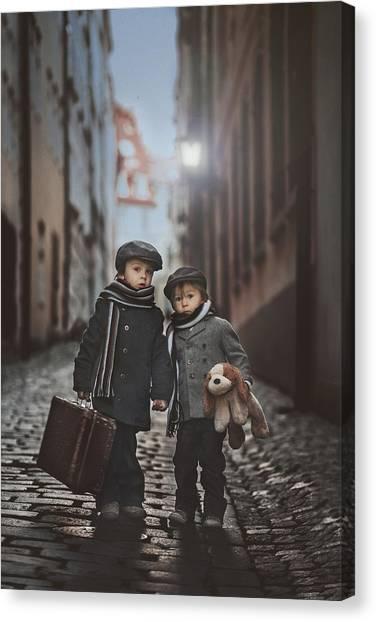 Teddy Bears Canvas Print - Les Misa?rables by Tatyana Tomsickova