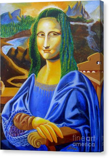 Les Mysteres Jocondais Au Code De Vinci   L E P I H Canvas Print