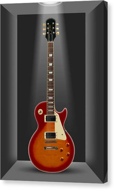 Electric Guitars Canvas Print - A Classic In A Box 2 by Mike McGlothlen