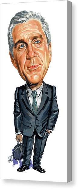 Leslie Nielsen As Dr. Barry Rumack Canvas Print by Art