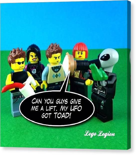 The Legion Canvas Print - Less Than A Week And Our Comp For by Lego Legion